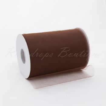 Brown Tulle Roll 100 yards